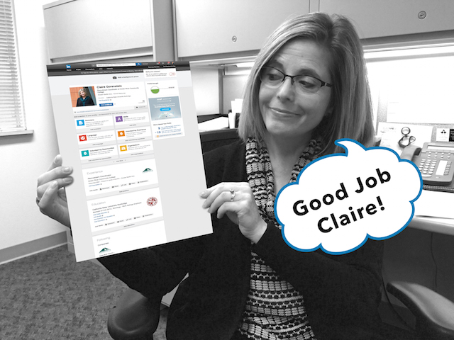 Claire on LinkedIn