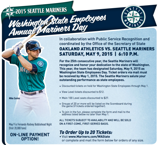 WA State Employees Annual Mariners Day