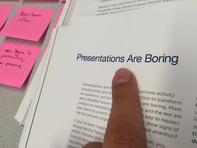 Presentations are boring