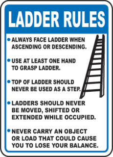 Watch your step ladder safety green river college for Ladder safety tips